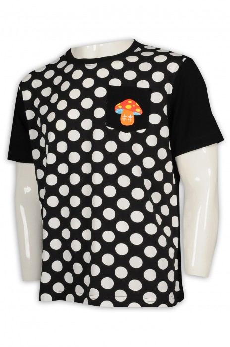 T949 設計波點T恤 印花logo T恤 澳門 T恤製衣廠