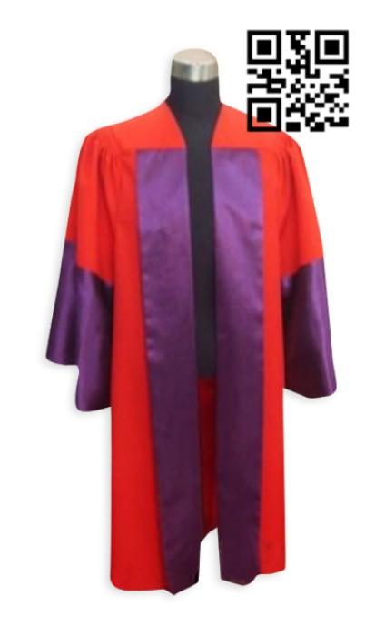 SKDA008  訂購英國博士槽袍 製造校長服 定制大學生畢業典禮服 畢業袍中心院士袍  畢業袍價格