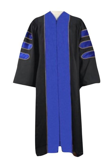 SKDA018 設計藍色邊博士服  網上下單畢業拍照禮服 訂購畢業袍 畢業拍製衣廠