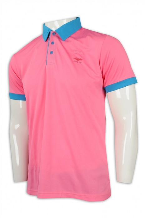 P1122  訂購撞色領短袖Polo恤 設計寬鬆男裝Polo恤 救生員 筆插 Polo恤專門店