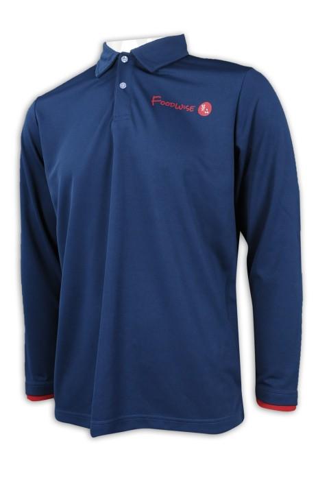 P1126 訂製袖口撞色Polo恤 Polo恤生產商