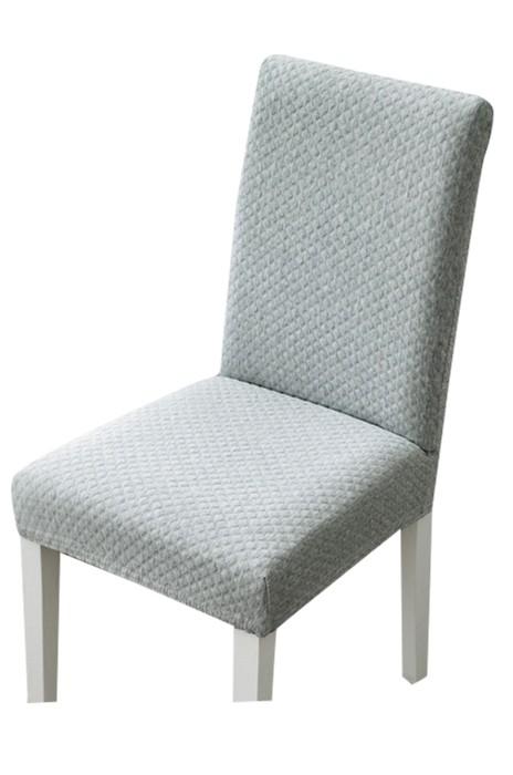 SCB006 連體彈力餐椅套 椅墊 坐墊 家用酒店凳子套 純色 暗紋 簡約餐桌椅子套罩 通用布藝