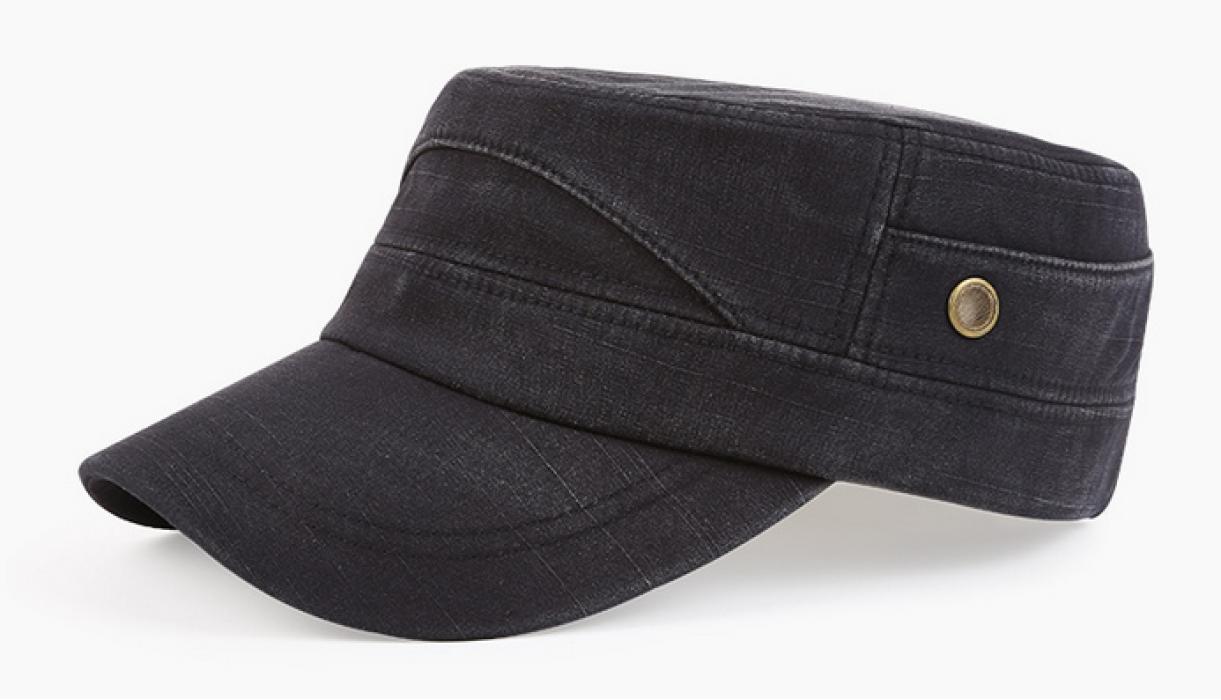 SKFC004  設計牛仔布平頂帽 供應休閒平頂帽 訂購時尚平頂帽 平頂帽hk中心  平頂帽價格