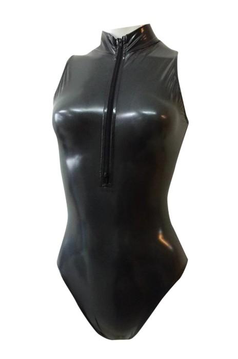 SKTF029  開胸緊身拉鏈連身服
