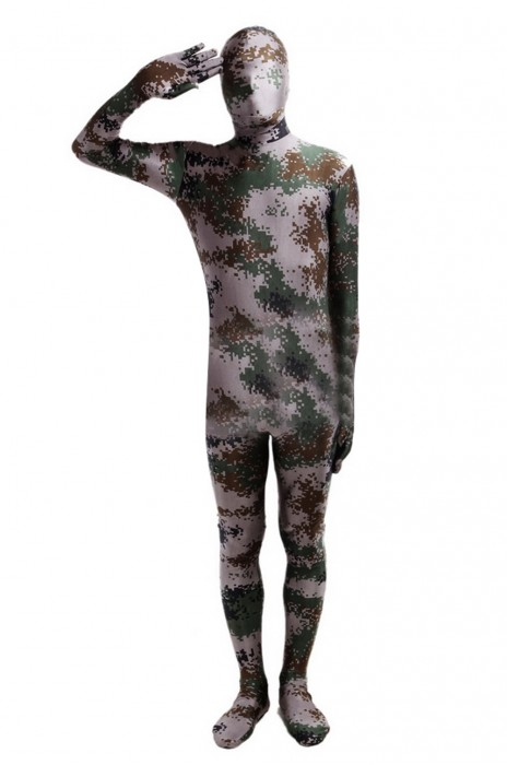 SKTF034 萊卡綠色迷彩緊身衣 任何仁 anyone 造型