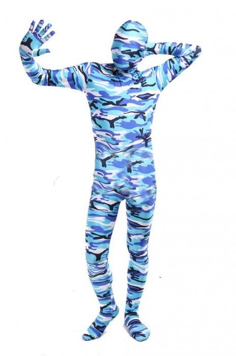 SKTF035 萊卡藍色全包COSPLAY 連身服 任何仁 anyone 造型