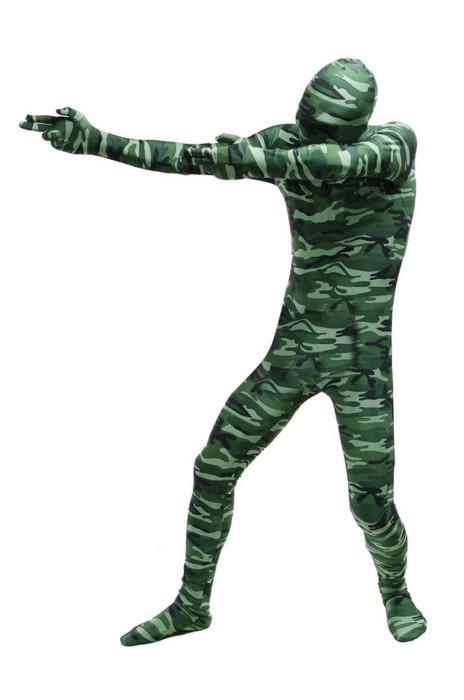 SKTF038 萊卡綠色迷彩緊身衣