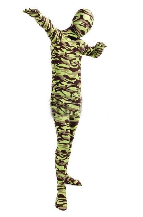 SKTF045 彈力綠色彈力迷彩展會緊身衣