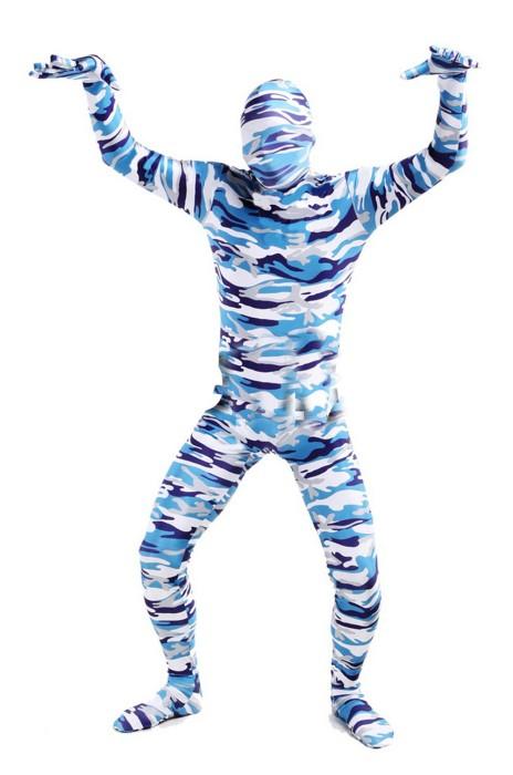 SKTF048 製造藍色包頭迷彩COSPLAY 連身服 任何仁 anyone 造型