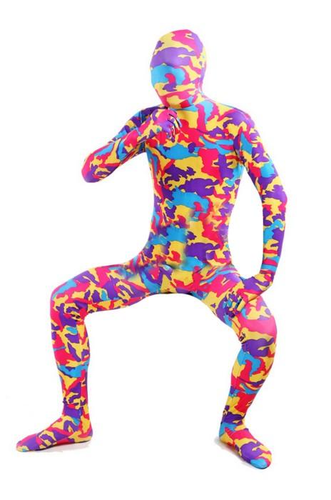 SKTF050 彈力彩色彈力迷彩展會連體服