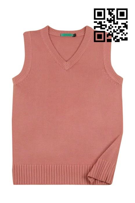 SKSW005 訂購純色冷背心 訂造馬甲套頭毛衣 製作無袖針織毛衣 毛衣供應商  毛衣價格