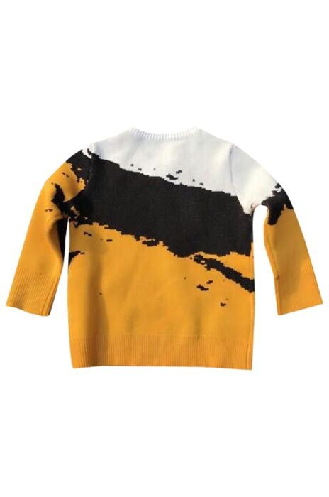 SKSW003  訂購提花長袖百搭圓領毛衣  套頭撞色加厚毛衣  親子裝提花圓領毛衣 毛衣專門店
