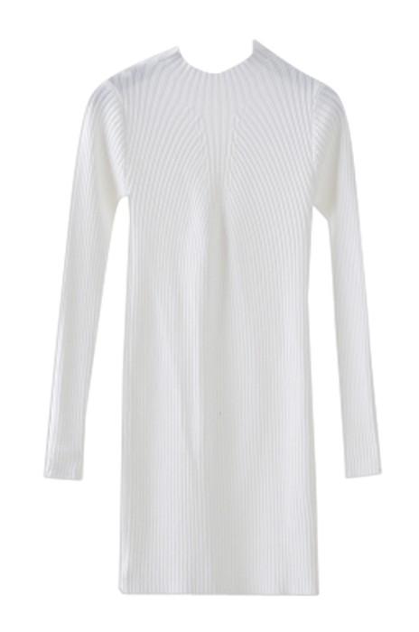 SKSW017  製造中長款毛衣女士連衣裙 過膝半高領毛衫裙 套頭修身針織\打底裙  毛衫裙供應商