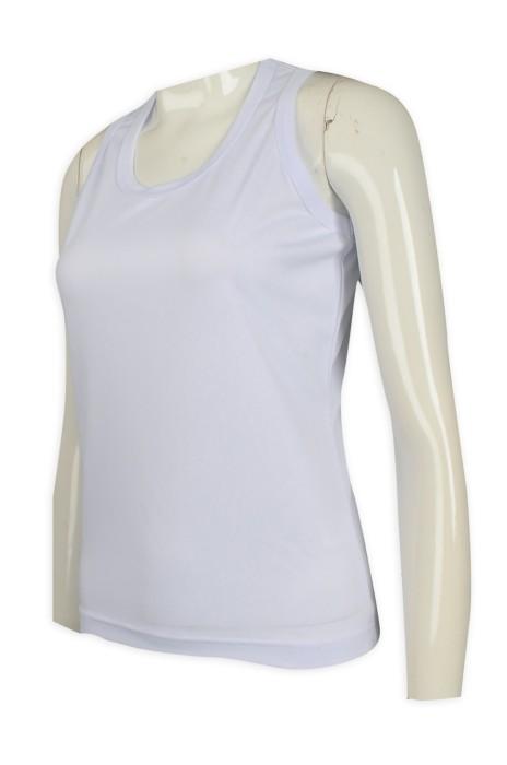 VT212 訂做白色女款修身背心T恤   背心T恤hk中心