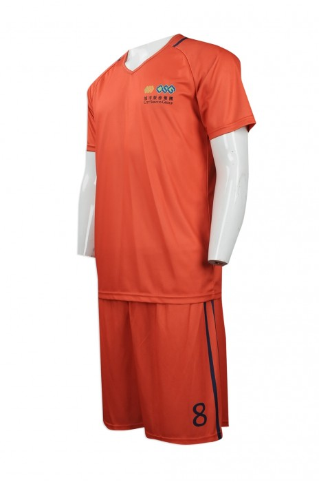 WTV144 度身訂製運動套裝 網上下單運動套裝 V領 足球波衫 足球隊衫運動套裝供應商