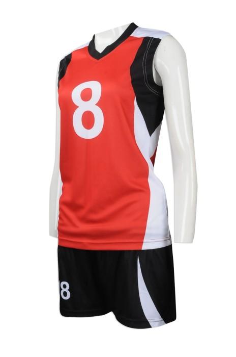 WTV145 大量訂製女裝運動套裝 設計女裝運動套裝熱升華 彩印 排球隊衫 運動套裝專營店