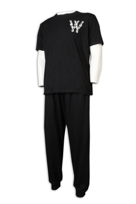 WTV167 訂購短袖T恤運動套裝 製造束腳運動套裝 橡筋褲頭 運動套裝hk中心