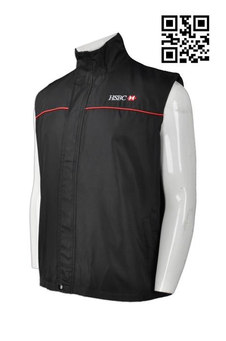 V162 自訂男裝背心外套款式   訂造LOGO背心外套款式  冇袖風褸 金融機構 銀行背心 設計背心外套款式   背心外套專門店