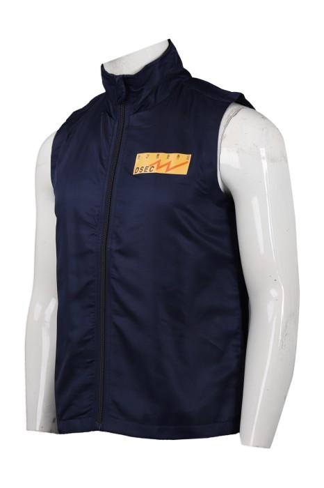 V176 設計印花運動背心外套  統計暨普查局  背心外套生產商