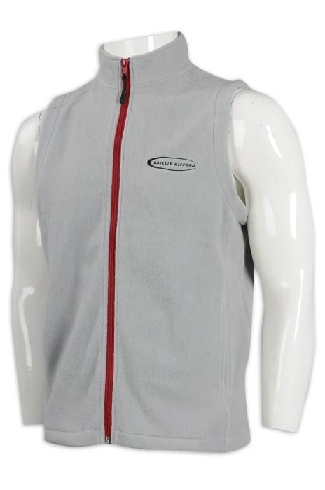 V189 訂製撞色拉鏈背心外套 香港 背心外套生產商