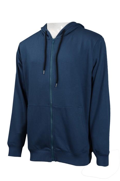 Z410 訂造淨色連帽衛衣  團體訂購帽繩衛衣 衛衣生產商