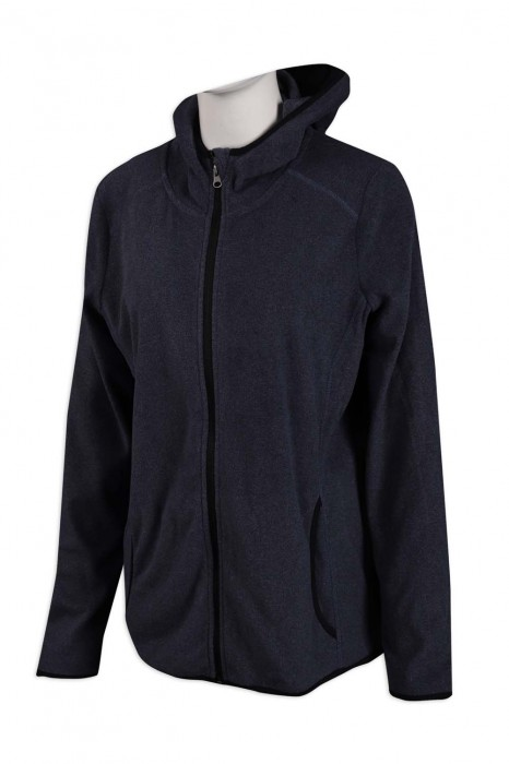 Z432 訂製連帽衛衣外套 新款 修身 深花灰  衛衣生產商