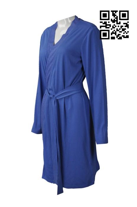 BR002 自訂女裝浴袍款式   製作淨色浴袍款式    設計浴袍款式   浴袍廠房