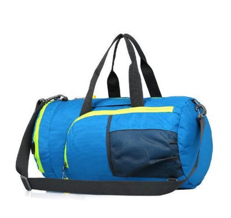 FB010 訂做運動折疊包款式  製造圓筒折疊包款式  可收縮背囊 輕便 收縮袋 收納背包 設計折疊包款式  折疊包生產商