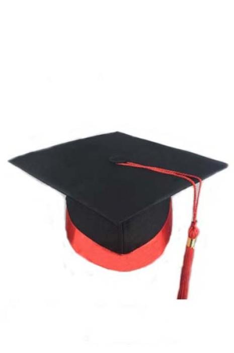 SKMB06 訂製成人禮帽子 鑲邊畢業帽 學士帽 頒獎學位帽 博士帽 畢業帽生產商