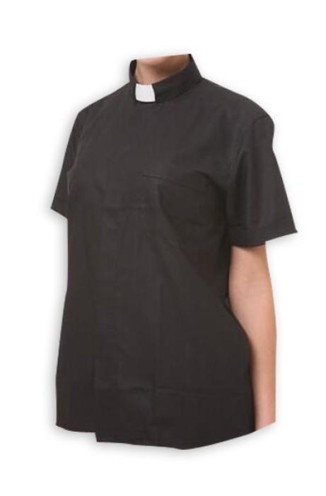 CS001 訂做牧師襯衫款式  設計基督教牧師襯衫款式  自訂牧師襯衫款式   牧師襯衫中心