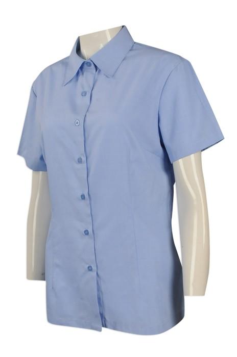 R250 來樣訂做女裝修身恤衫 網上下單女裝短袖恤衫 澳門 財政局 恤衫供應商