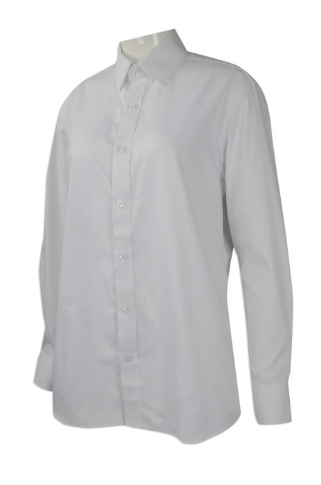 R256 團體訂做淨色長袖恤衫 網上下單修身長袖恤衫 澳門 勵庭酒店 員工制服恤衫批發商