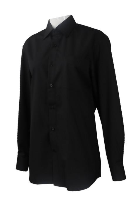 R259 大量訂購女裝長袖恤衫 團體訂做女裝修身版長袖恤衫 新加坡 修身恤衫製衣廠