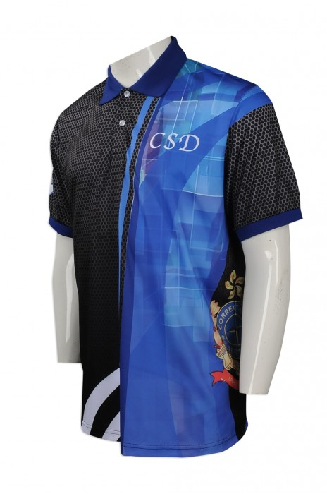 P846 來樣訂做熱升華Polo恤 網上下單短袖熱升華Polo恤  保齡球隊衫 保齡衣 熱升華製造商