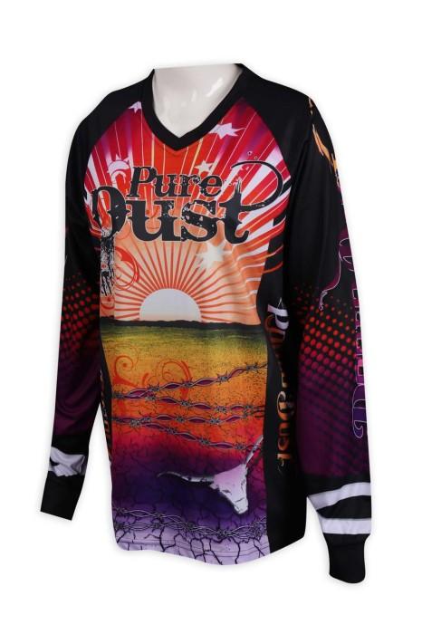 T916 訂製熱升華長袖T恤 全件印花  Pure Dust 馬術運動 熱升華製造商