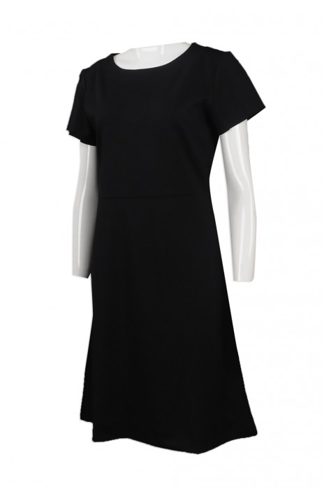FA347  自訂純色連身裙款式   製造女裝連身裙時裝款式    設計個性時裝款式    時裝生產商