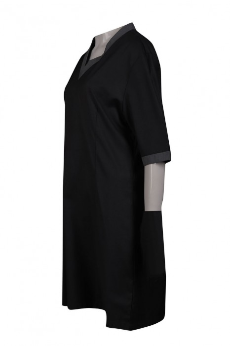 FA348 訂製黑色連衣裙時裝款式 時裝製衣廠
