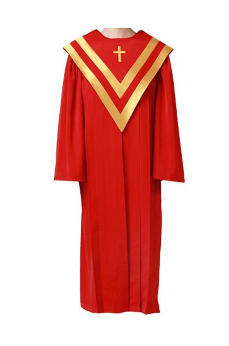 SKPT036  網上下單聖服  基督教服飾 聖衣 聖袍 唱詩班服 詩班服 聖詩服 受洗服 聖詩袍制服公司