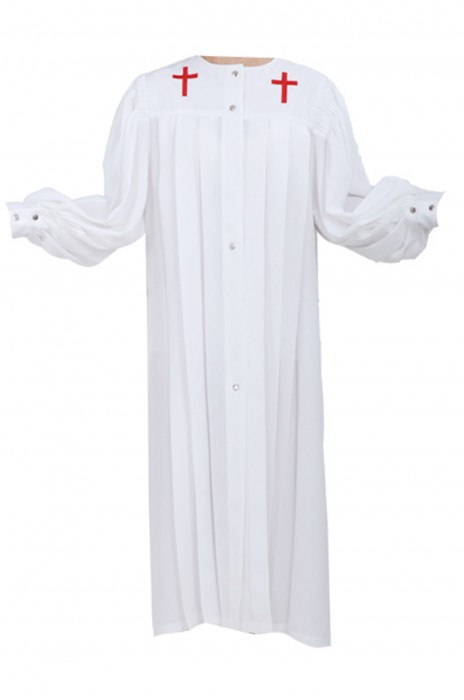 SKPT049 設計聖詩袍 基督教 聖衣 聖袍 聖詩服 唱詩服 詩班服 詩袍 天主教神父祭衣 長袖聖服 聖詩袍製衣廠