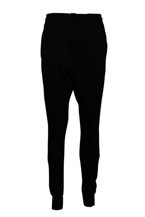 U321 製作黑色束腳運動褲 運動褲製造商 路跑褲