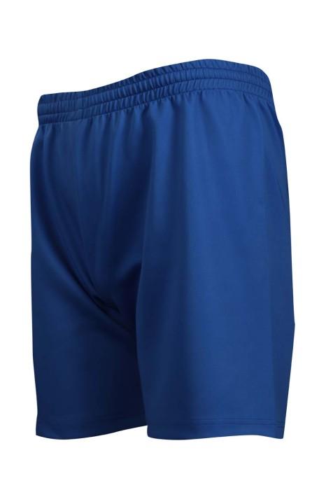 U328 訂製淨色運動短褲 橡筋褲頭 100%滌 運動褲製造商