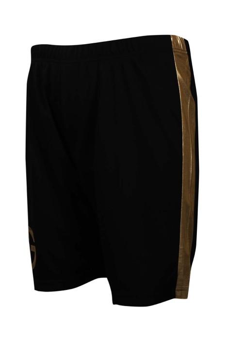 U330 製作休閒運動短褲 金色拉邊 撞色邊條 澳門 運動褲生產商