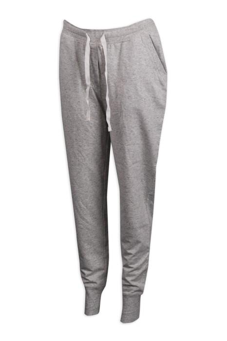 U333 設計灰色束腳運動褲 運動褲製造商