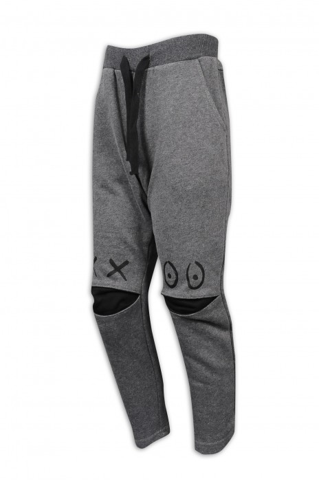U338 訂做休閒運動褲 膝頭開合伸展款 60%棉 40%滌 運動褲供應商