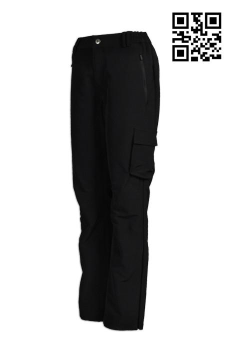 H206網上下單大量斜褲  定購後腰拉鍊袋斜褲 腰側橡筋 收脾 訂製休閒斜褲  斜褲生產商