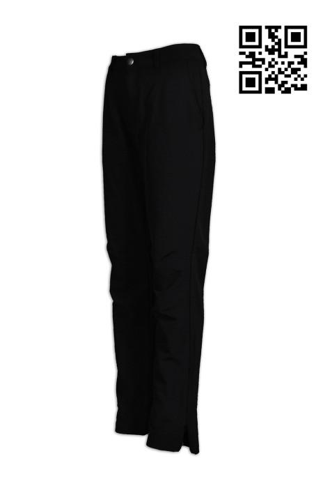 H210供應修身女士斜褲  訂做後腰拉鍊袋斜褲   訂製褲腳拉鏈淨色斜褲  斜褲供應商