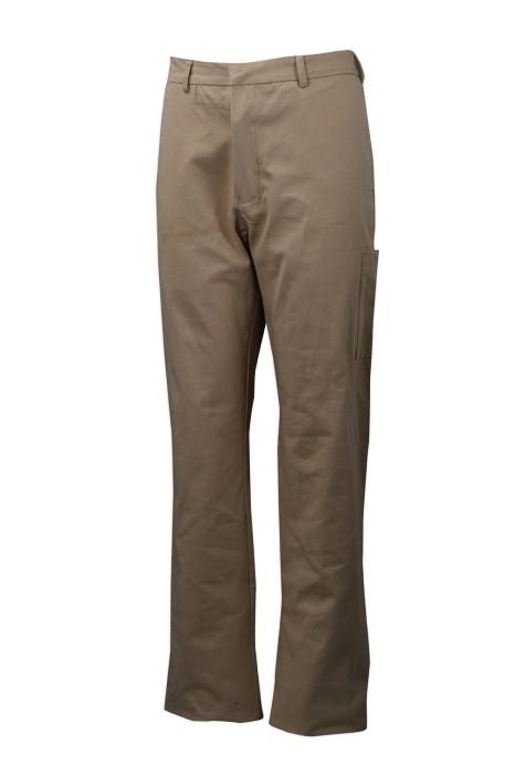H230 訂做卡其色工裝斜褲 直腳褲款 108*56斜紋 100%棉紗卡厚 斜褲製衣廠