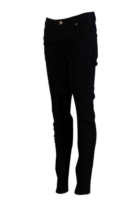 H235 設計修身斜褲 黑色牛仔布 洗水 94%棉 4%彈力紗 斜褲專門店