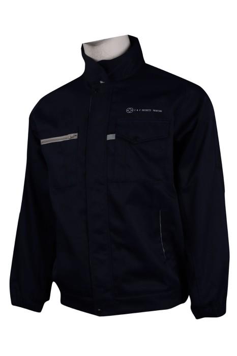 D269 設計夾棉冬季外套 筆插設計 保安制服工業制服製造商