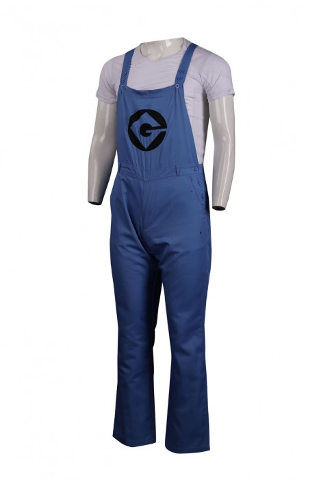 D273 製作連身工業制服 吊帶工人褲 新加坡 合光紡織一滌棉 工業制服供應商